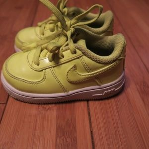 Nike Air Force 1 Low Children's Kids 6C Volt Green